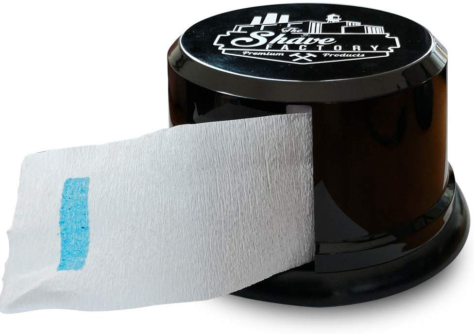 Barber Salon Disposable Neck Paper Strips Roll Collar Tissue Dispenser Holder - Black 1/2/3/4/5/6 pieces