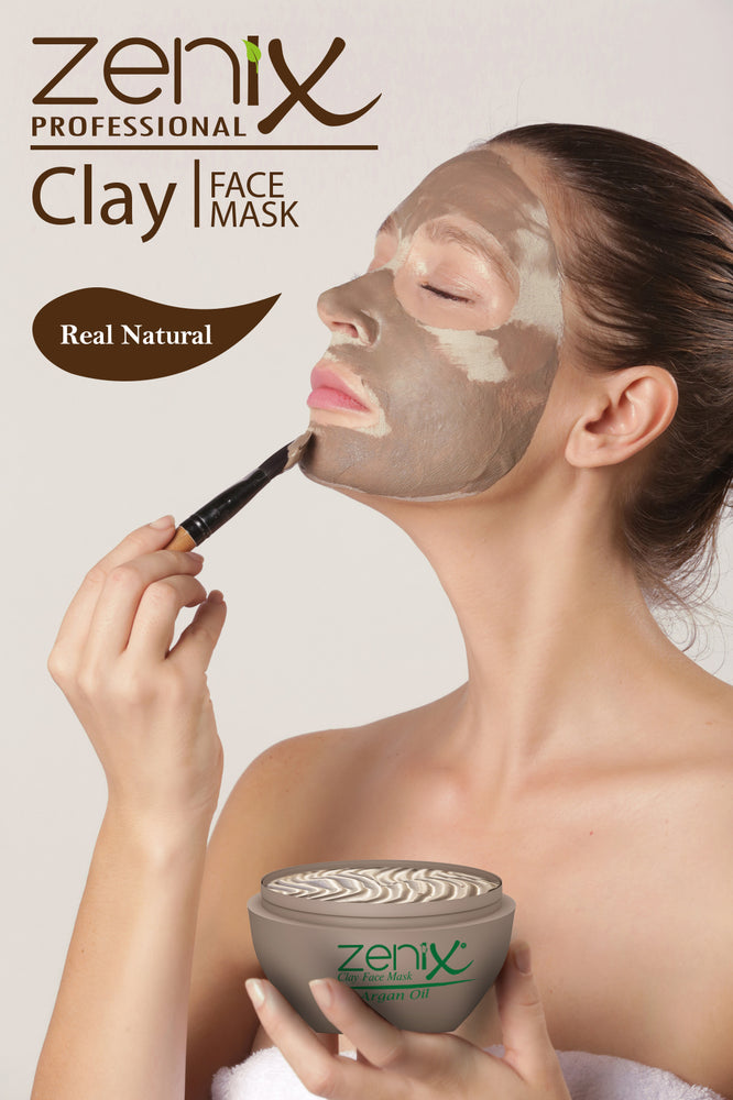 Zenix Dead Sea Clay Face Mask with Argan Oil 300ml 1/2/3/6 pieces