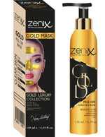 Zenix Peel-Off Gold Face Mask Blackhead Remover Acne Spot Skin Treatment 130ml 1/2/3/6 pieces