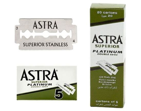 Astra Superior Platinum Double Edge Razor Blades 5/10/20/50/100/200 Pieces