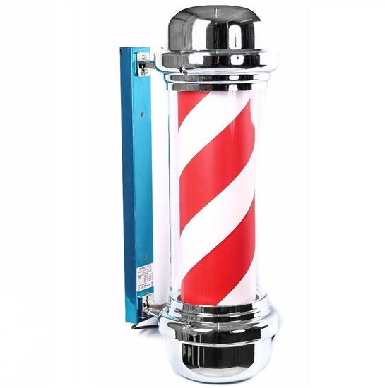 Classic Barber Pole LED Illuminated, Rotating Stripe 75cm in 2 Colours