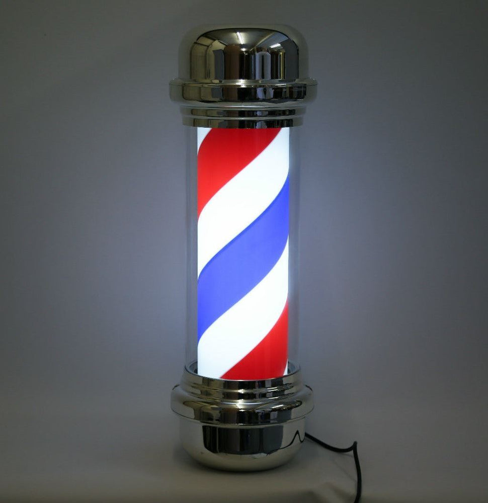 Classic Barber Pole LED Illuminated, Rotating Stripe 75cm in 3 Colours