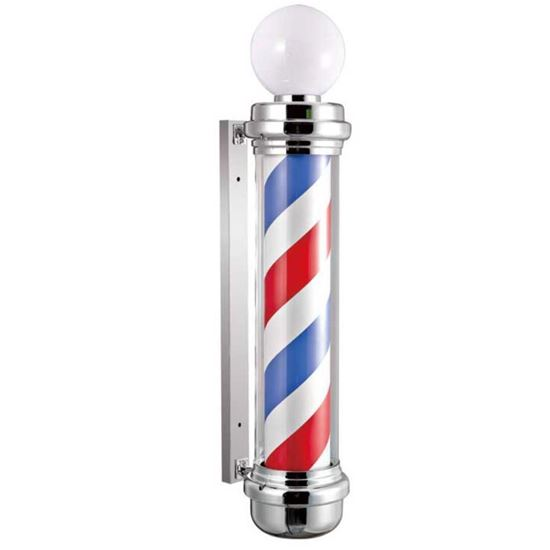 Classic Barber Pole LED Illuminated, Rotating Stripe Bulb Globe Light 110cm in 3 Colours