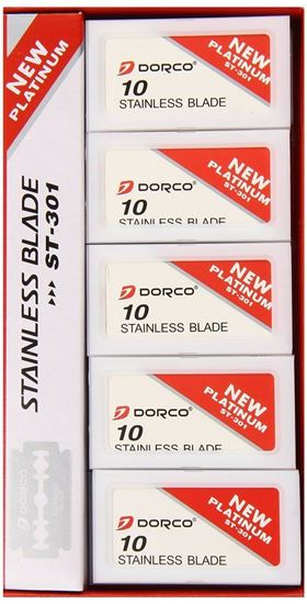 Dorco Platinum Stainless Steel Double Edge Razor Blades 100 Pieces ST301