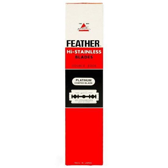 Feather Hi-Stainless Platinum Coated Double Edge Razor Blades 100 Pieces