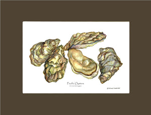 Shellfish Print: Oysters, Pacific