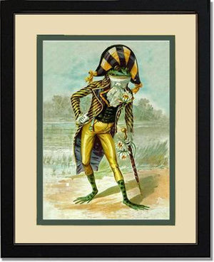 Victorian Print: Mr Frog