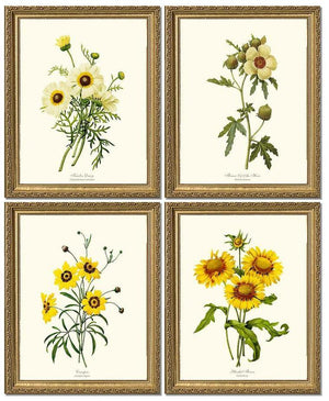 Vintage Yellow Flower Set