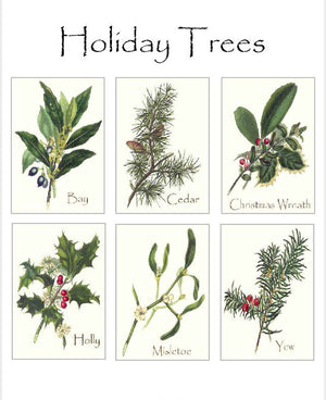Vintage Holiday Tree Note Card Set