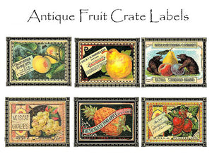 Fruit Crate Label Note Cards