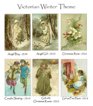 Victorian Winter Theme Note Card Set