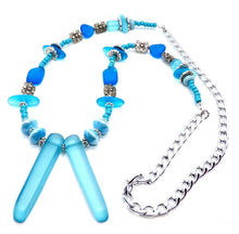 Load image into Gallery viewer, Blue Sea glass Necklace