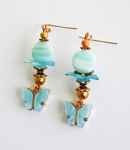 Light blue butterfly Earrings