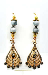 Gold-plated kidney hook Earrings