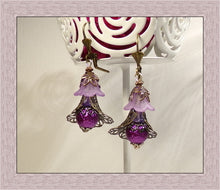 Load image into Gallery viewer, flower earrings bead short