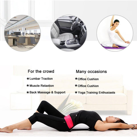 Back Massage Magic Stretcher Fitness Equipment, Relax,  Lumbar Support -Spine Pain Relief