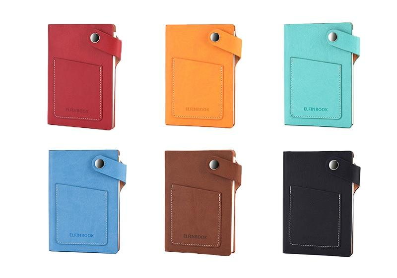 Elfinbook Mini Smart Reusable Notebook, Diary, Notepad With Vintage Faux Leather