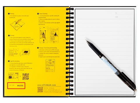 Image of Elfinbook Smart Reusable Erasable Spiral A5 B5 Notebook Paper Notepad Journal Drawing Painting Pocketbook like Rocketbook