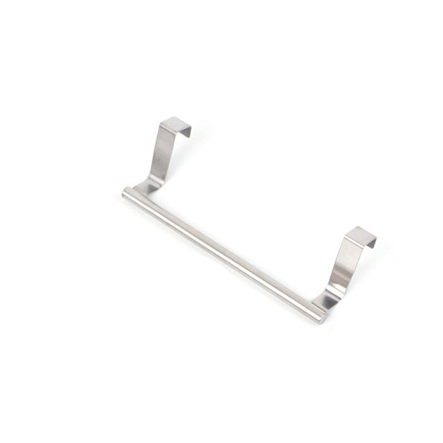 Stainless Steel Bathroom Towel Stand Rack Kitchen Cupboard Hanger Cabinet Door Chest Hanging Sundries Storage Shelf