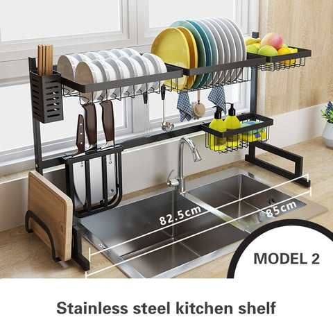 Image of Stainless Steel Kitchen Racks, space and movement saving dish and utensil system for an organized kitchen.