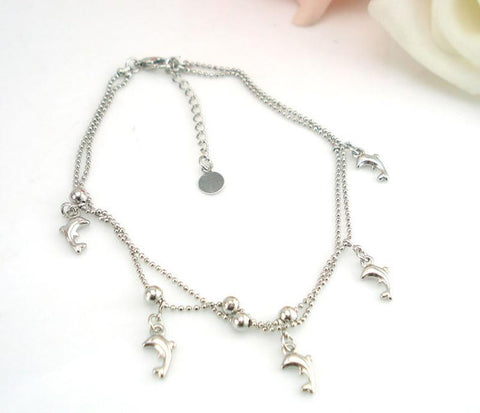 Image of Simple And Elegant, Dolphin Anklet