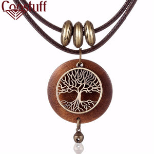 Tree Of Life  Chokers, Necklaces  Wooden Pendant- Long Necklace For Women-Everyone You Buy Plants A Tree