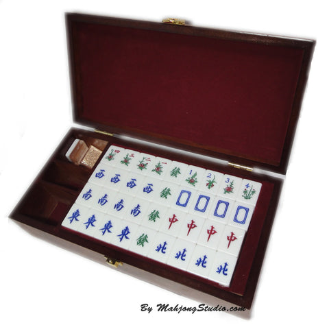 Champagne Gold Crystal Mahjong (Mini Travel Set)