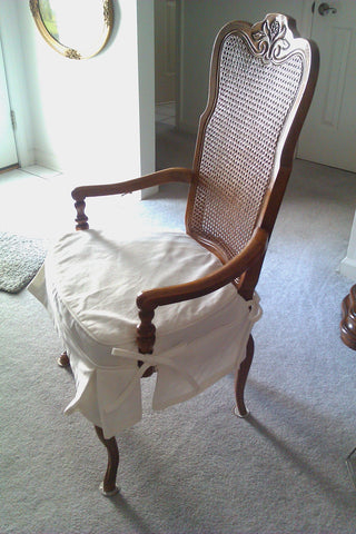 Dining Chair seat slipcover, tie on cover