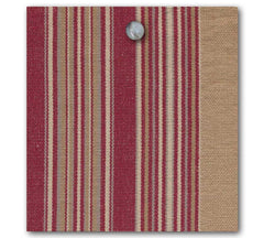 Vintage Ticking Stripe - Antique Red