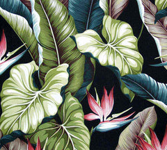 Bird of Paradise Fabric Black