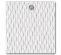 Mattelasse Diamond Fabric - White