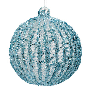Blue Christmas decoration on a white background
