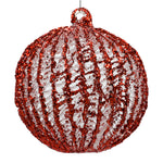 Red Christmas Tree Bauble on white background