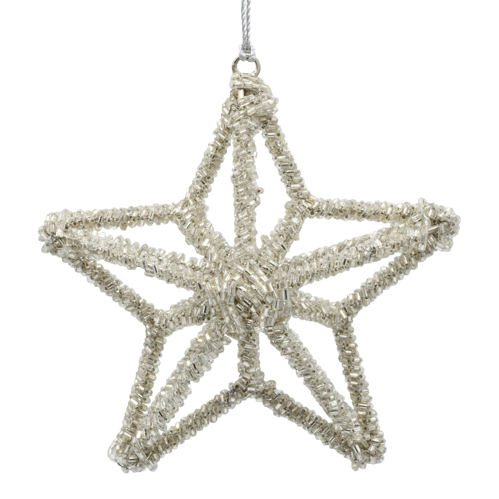 Christmas star decoration on a white background