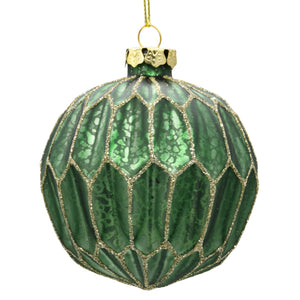 Green Christmas Tree decoration on a white background