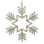 Silver Christmas Snowflake Decoration on a white background