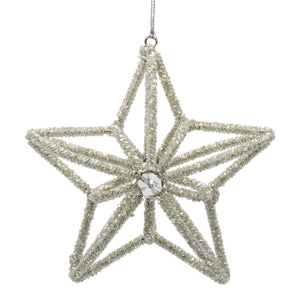 Set of 3 Curved 3-D Stars - Silver