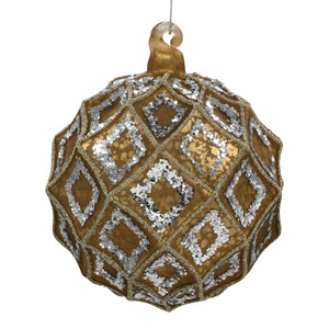 Luxury Gold Christmas Tree Decoration on white background
