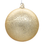 Large gold Christmas bauble on white background