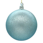Large blue Christmas tree decoration on white background