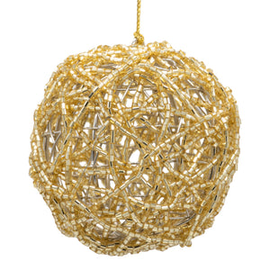 Set of 6 Mesh Baubles - Gold