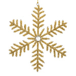 Set of 3 Snowflakes - Gold II -
