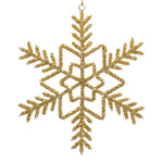 Beaded snowflake Christmas decoration on a white background