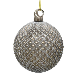 Bronze Christmas tree decoration on white background