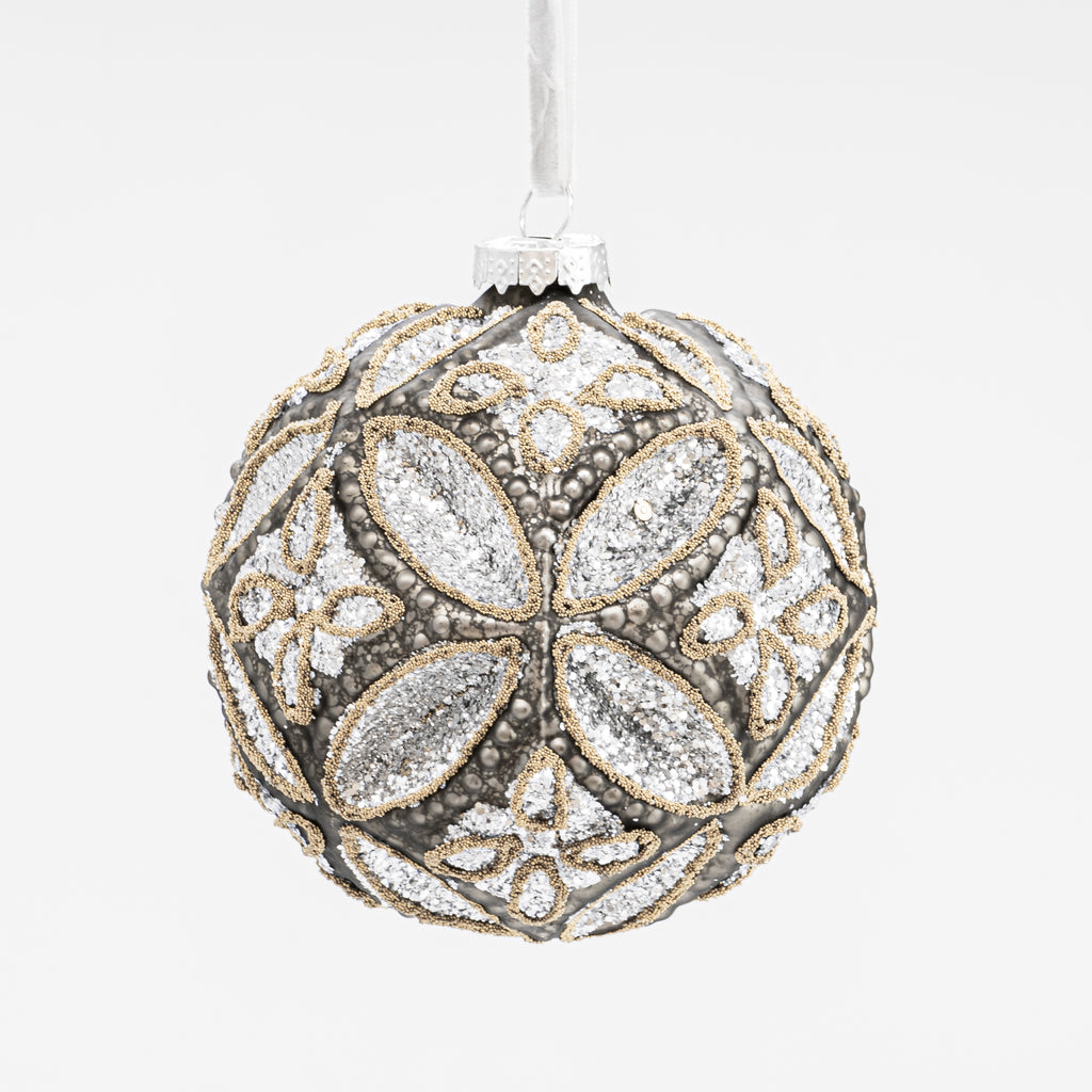 oversized large silver christmas bauble