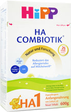 Load image into Gallery viewer, HiPP HA Germany Hypoallergenic Stage 1 Combiotic, 600g | 8 Units