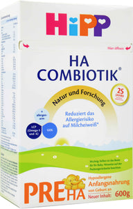HiPP HA Germany Hypoallergenic Stage PRE, 600g