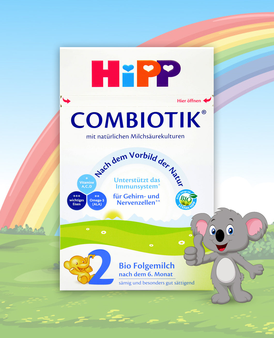 HiPP German Stage 2 Combiotic Follow-on Infant Milk Formula, 600g  | 12 Units