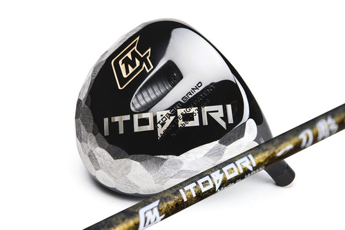 Itobori Black Driver + Itobori Bamboo Shaft Gold with marble