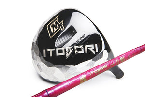 Itobori Black Driver + Itobori Bamboo Shaft Pink with marble
